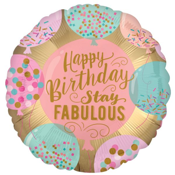 Happy Birthday Stay Fabulous Standard XL Foil Balloon